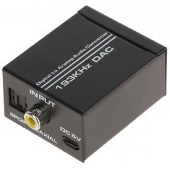 KONWERTER AUDIO DIGITAL Optical TOSLINK ANALOG DA/AU-3