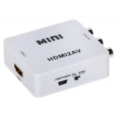 KONWERTER HDMI - AV, HDMI - AUDIO VIDEO, HDMI - CINCH RCA, HDMI/AV