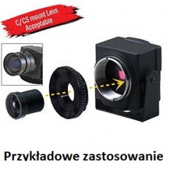 MINI KAMERA CCTV CCD 600 TVL 0.001 Lux  STAR LIGHT HDR 3D-DNR OSD  C CS MINI PM12 15-CG43