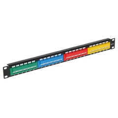 "Patch panel do szafy RACK 19"", 1U, 24 porty, PP-24/RJ-KAT"