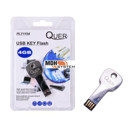PENDRIVE USB KLUCZYK  Flash 4GB Quer